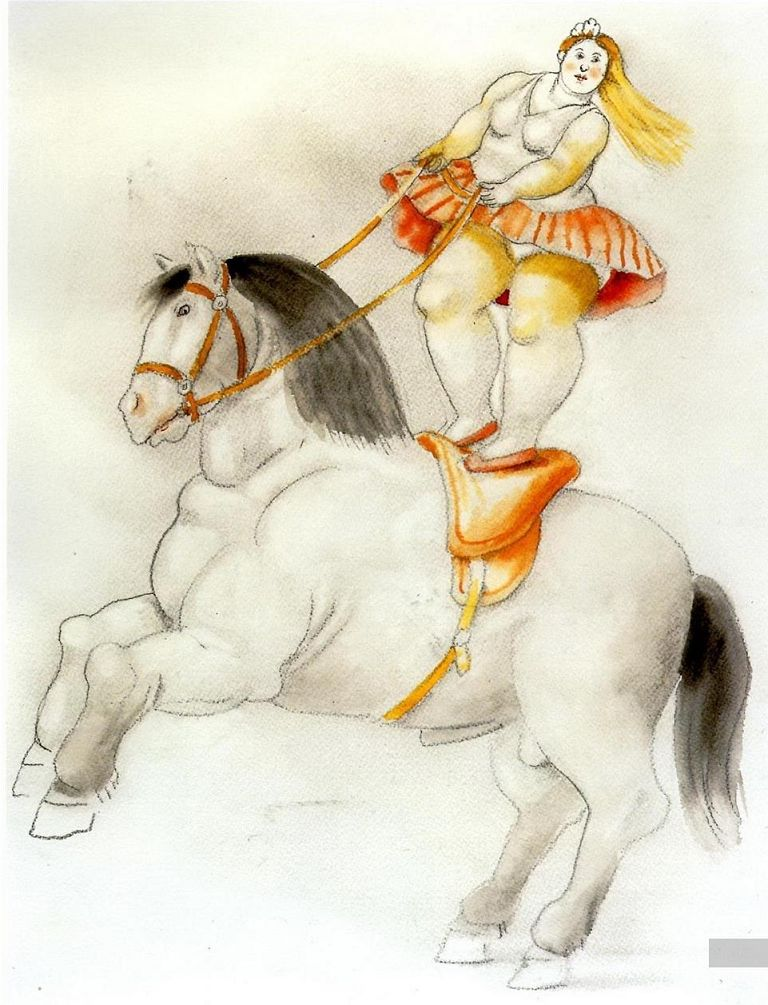 Botero Circus woman on a horse
